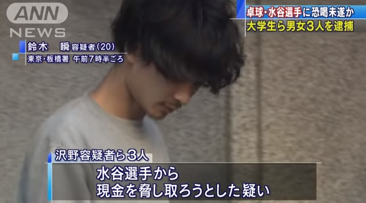 鈴木瞬容疑者の顔写真1